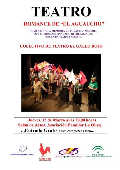 CARTEL DEL ROMANCE DE EL AGUAUCHO. LA OLIVA-13-03-14 Logo afo
